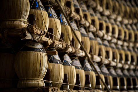 Weinflaschen in Florenz