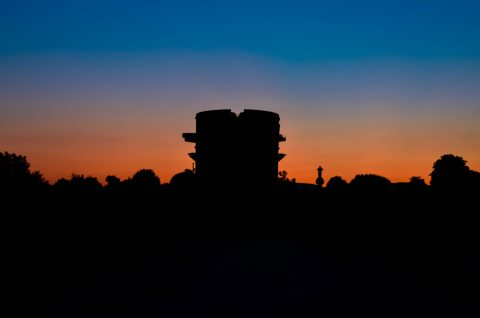 Flak tower by night